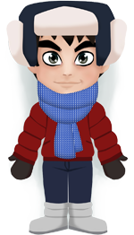 Weather Enhor: Cold, -10°C, variable cloud, no precipitation