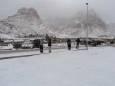 Сильный снегопад в городе Святой Екатерины в Египте