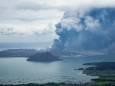 Сильное извержение вулкана в Филиппинах