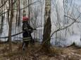 У Чорнобильській зоні та Житомирській області продовжують боротися з вогнем. Фото