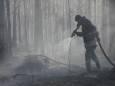 У Житомирській області та Зоні відчуження продовжують гасити лісові пожежі