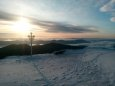 Мороз та сонце. На початку літа в Карпатах лежить сніг