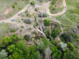 В Запорожской области «ожил» давно пересохший водопад