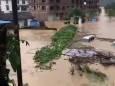 В Китае разбушевалось наводнение