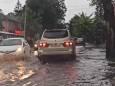 Город на Закарпатье затопил ливень