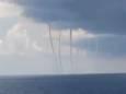 Одновременно 6 водяных смерчей образовались в Мексиканском заливе