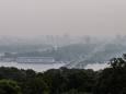 Некоторые районы Киева затянуло смогом