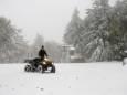 В горах Венгрии выпал первый снег