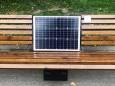 В Соломенском районе Киева появились скамейки с солнечными батареями