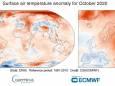 Жовтень 2020 року виявився найспекотнішим для Європи за всю історію спостережень