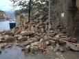 В Дербенте проливные дожди разрушили часть памятника ЮНЕСКО