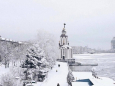 Красота: Днепр накрыло снегом