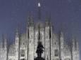 Снегопад превратил Милан в сказочный город. Фото