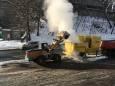 Канадские машины плавят снег в Киеве