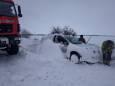 Негода в Україні ускладнила рух автотранспорту