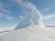 Ледяной вулкан в степи Казахстана