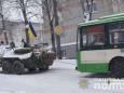 Операция с БТР. В Ровно вытаскивали троллейбус из снежной ловушки