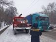 Движение транспорта ограничено в четырех областях Украины