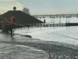 В Днепре дождь разрушил часть набережной