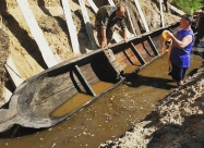 У річці Житомирської області знайшли старовинний човен
