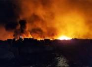 Масштабный пожар на свалке в Кривом Роге