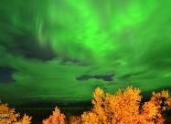 Зеленые облака появились над Швецией