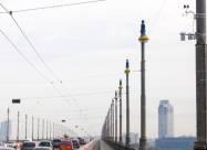 На въездах в Киев и в центре города установили дорожные метеостанции