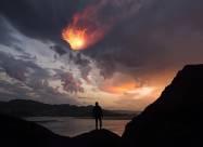 На Землю упал яркий метеорит. Видео