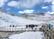 Китайские ученые укрыли одеялом ледник, чтобы предотвратить его таяние