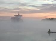 Одессу окутал необычный туман