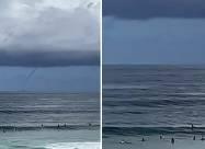Невероятный водяной торнадо замечен у побережья Австралии. Видео