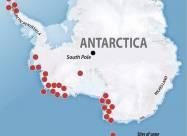 Під льодовиковим покривом Антарктиди знаходяться не менше 138 вулканів