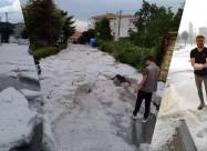 На Грецію обрушилась сильна літня злива з градом. Відео