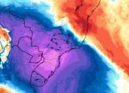 Холодный полярный воздух принес снегопады и ледяные дожди на юг Бразилии