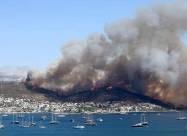 В Турции из-за пожаров начали эвакуацию туристов. Видео
