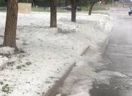 Американский штат Колорадо завалило градом. Видео