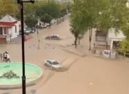 ВИДЕО. Сильное наводнение затопило улицы Испании