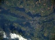 Киев с орбиты. Столицу Украины сфотографировали из космоса
