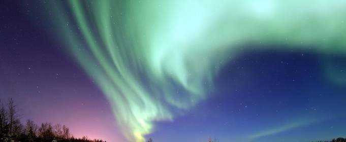 Внезапное полярное сияние над Норвегией