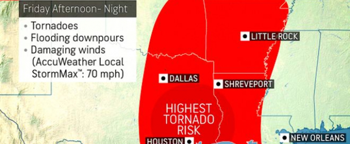 Не менее 30 млн жителей США могут пострадать от шторма