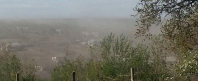 Буря из пыли пронеслась по Одесской области