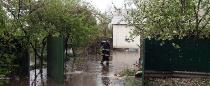 На Житомирщине ливень затопил частные домохозяйства