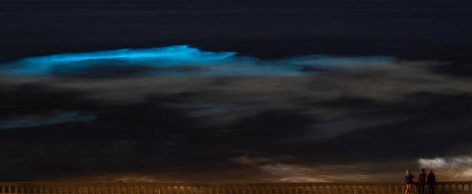 «Неоновые» волны наблюдаются в Калифорнии