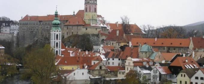 На Чехию обрушился снегопад