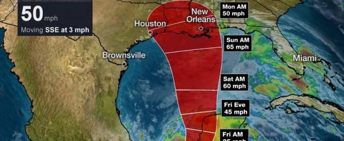 У побережья Мексики сформировался шторм «Кристобаль»