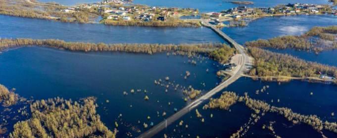 В Лапландии быстрое таяние снега привело к наводнениям