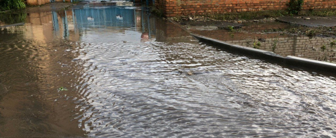 Ливень затопил улицы в Запорожской области