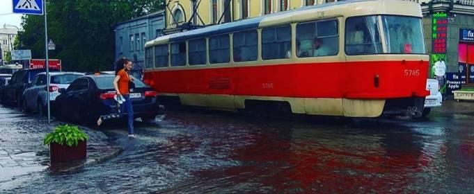 Киев затопило после сильного ливня