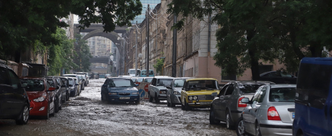 Ливень затопил улицы Одессы
