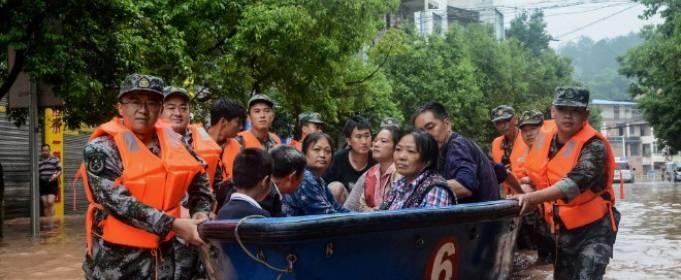 Более 100 человек погибли или пропали без вести из-за наводнений в Китае